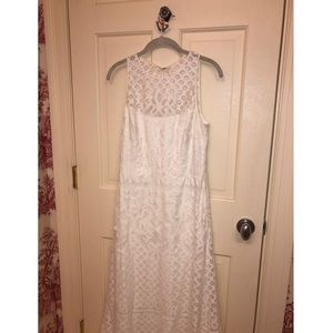Vera Wang White Crochet/Embroidered Dress - W 8